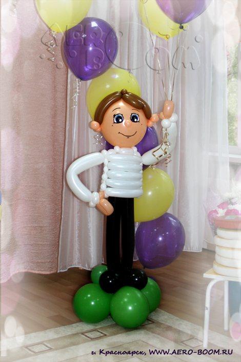 Фигуры из шаров для мальчика как сделать