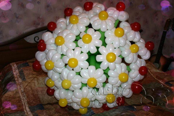Фото цветы из воздушных шаров своими руками